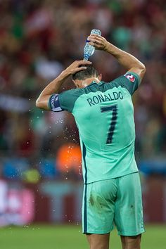 #EURO2016 Portugal's Cristiano Ronaldo during the UEFA Euro 2016 Semifinal match between Portugal and Wales at Stade de Lyon on July 06 in Lyon France