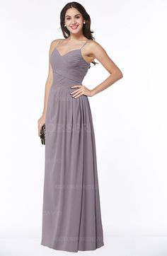 840b929994e Sea Fog Cinderella A-line Sleeveless Chiffon Floor Length Ruching Plus Size  Bridesmaid Dresses (