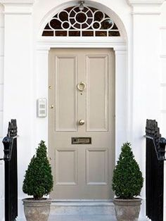 beige color feng shui front door