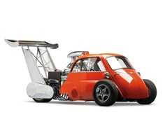 "BMW Isetta ""Whatta Drag"" Hotwheel Car 730HP"