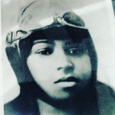 """Bessie Coleman first African-American female pilot and pilot license holder born on this day in 1892 remembered in this close-up from an exhibit of female pilots during the """"Golden Age of Aviation"""" at the New Jersey Aviation Hall of Fame. For more information visit: njahof.org. Open Tues.-Sun. 10-4 near Teterboro Airport. #BessieColeman #aviation #fly #birthday #family #friends #travel #travelgram #instatravel #instadaily"""