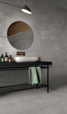 Ceramic wallpaper and bespoke bathroom furniture Design Your Life, Small Bathroom, Bathrooms, Bathroom Vanities, Minimalist Bathroom, Stone Tiles, Bathroom Furniture, Bathroom Inspiration, Bathroom Accessories