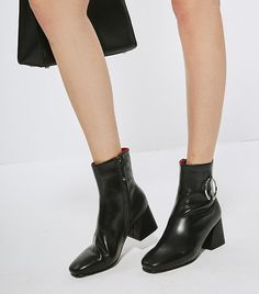 Few Moda Black Ankle Boots ($150) We'll take a chunky heel over a stiletto any day of the week.  6 Affordable Sites You Haven't Shopped Yet—butShould via @WhoWhatWear