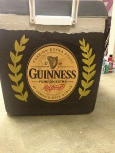 Guinness logo beer lager cooler side