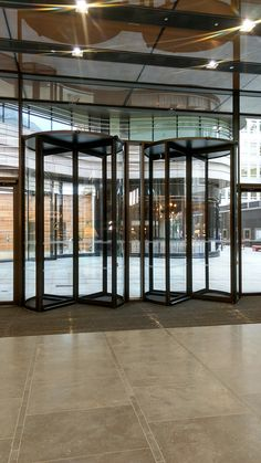 Two of the three high Revolving Doors that EA Group installed at St James' Market in London