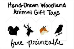 Free Wooldand Christmas Gift tags Pinned by www.myowlbarn.com