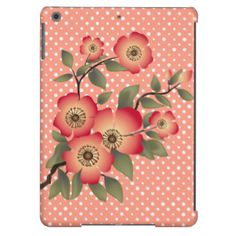 Flowers and polka dots pattern iPad air cases