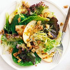 35 luscious apple recipes | Fall Green Salad with Apples, Nuts, and Pain d'Epice Dressing | Sunset.com #SunsetTurkeyDay