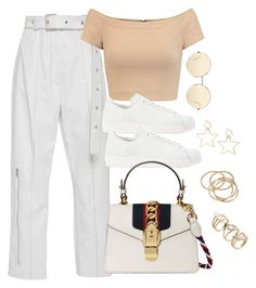 """""""Untitled #3600"""" by theaverageauburn ❤ liked on Polyvore featuring Alice + Olivia, adidas Originals, Gucci, Victoria Beckham and ABS by Allen Schwartz"""