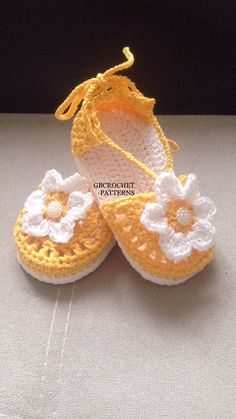 A personal favourite from my Etsy shop https://www.etsy.com/listing/521995685/crochet-pattern-baby-spring-shoes-girls