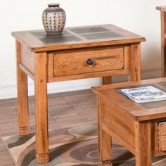 "Check out the Sunny Designs 3144RO Sedona 28"" End Table in Rustic Oak priced at $347.50 at Homeclick.com."