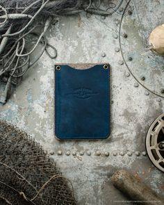 Passport wallet with SD cardholder   Ocean Blue