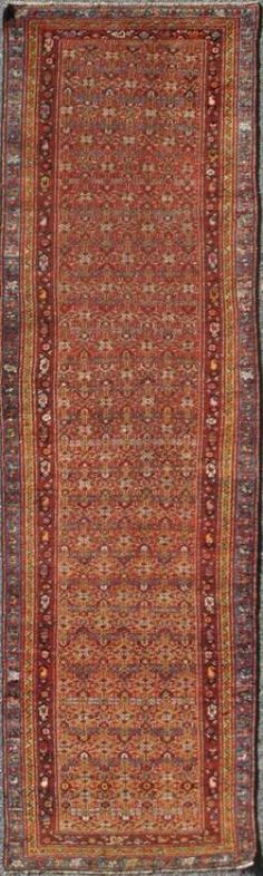 "KEIVAN WOVEN ARTS,  Circa :1900 Type :Seraband Origin :Iran Design :All Over Material :Wool Texture :Pile Size : 3'0""x9'11"""