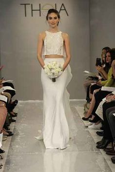 Fabulous  Completely Stunning Crop Top Wedding Gowns