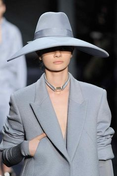 Wide brimmed hats look sartorially elegant for #AW14 from Tod's #MFW