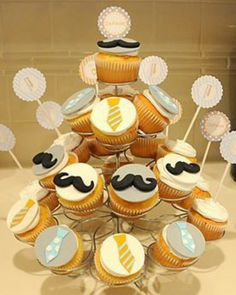 Cup cake mustache