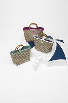 Gucci Kids' SS 2014 Collection: Original GG Canvas Tote With Bamboo Handle