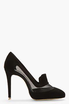 Stella McCartney Black Mininet Narsaq Heels for women | SSENSE