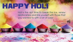 Best wishes to everyone for a Holi filled with sweet moments and memories to cherish for long. Happy Holi!  #happyholi #happyholi2017 #holi2017