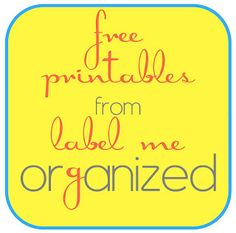 Label Me Organized: Free Printables For Organizing Home and Family Printable Labels, Printable Paper, Free Printables, Home Binder, Home Planner, Organizing Labels, Planner Organization, Printable Organization, Household Binder