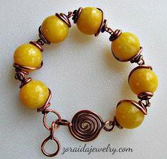 Big Bold Yellow Jade Bracelet