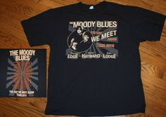 "The Moody Blues ""The Day We Meet Again"" 2010 Concert Tour T-Shirt tee Men's XL #Anvil #GraphicTee"
