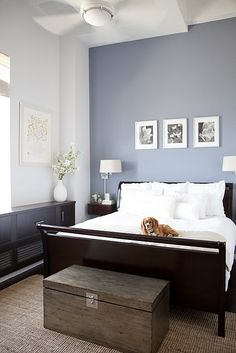 Bedroom - Small Bedroom Paint Colors Pleasing Paint Colors For Bedroom. Natural Master Bedroom Paint Alluring Paint Colors For Bedroom. The Best Paint Colors From Stunning Paint Colors For Bedroom. Paint Colors For Bedroom Tagged at kadol. Blue Accent Walls, Blue Grey Walls, Bedroom Wall Colors, Colourful Bedroom, Bedroom Wall Paints, Relaxing Bedroom Colors, Tranquil Bedroom, Blue Paint For Bedroom, Calm Colors For Bedroom
