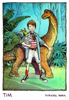 Jurassic Park animated series concept art from William Stout.