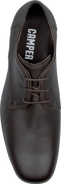 Camper Dark Brown Leather Mens Shoes
