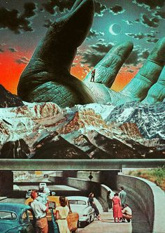 The Fantasy Of Life. #collageart #fantasy #life