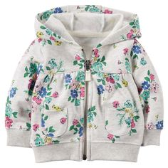 Floral French Terry Cardigan