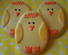 Chick Decorated Sugar Cookies (12). $29.00, via Etsy.