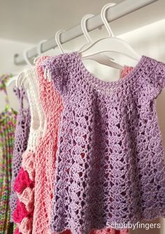 5 Beautiful Crochet Dresses for Little Ladies- Free patterns – Five Chubby Fingers