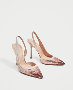 SEQUINNED HIGH HEEL SLINGBACK SHOES - High-Heels-SHOES-WOMAN | ZARA United States