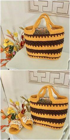 shining DIY Crochet basket and slipper set Diy Crochet Patterns, Crochet Designs, Crochet Crafts, Crochet Yarn, Easy Crochet, Crochet Stitches, Crochet Projects, Free Crochet, Knitting Patterns