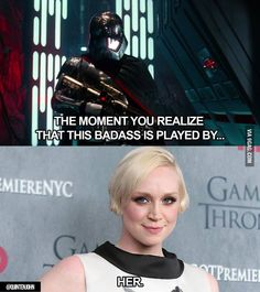Brienne of DARTH! #gwendolinechristie  /  #SLCC15 tickets are on sale now: http://saltlakecomiccon.com/slcc-2015-tickets/?cc=Pinterest