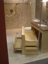 Accessible universal design bathroom design and products Bathroom remodeling akron ohio