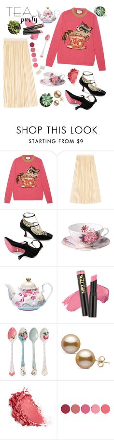 """Tea Partea"" by elenatudor21 ❤ liked on Polyvore featuring Gucci, Wedgwood, L.A. Girl, Royal Doulton and Kjaer Weis"