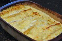 White Chicken Enchiladas ~ Recipe of today