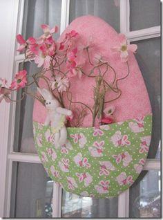 Adorable no-sew egg door decoration
