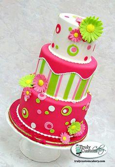 Colorful fun cake
