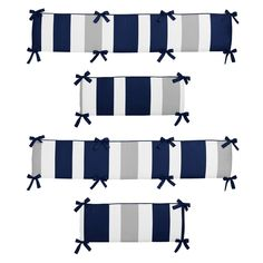 Shop for Sweet Jojo Designs Navy Blue and Gray Stripe Collection Baby Crib Bumper Pad. Get free delivery On EVERYTHING* Overstock - Your Online Baby Bedding Shop! Crib Bumper Set, Bumper Pads For Cribs, Baby Crib Bumpers, Baby Boy Cribs, Baby Boy Rooms, Boy Nursery Themes, Nursery Crib, Crib Bedding, Nursery Ideas
