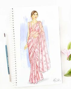 Image may contain: one or more people Fashion Design Books, Fashion Design Sketchbook, Fashion Design Drawings, Fashion Art, Fashion Collage, Art Sketchbook, Fashion Sketches, Indian Fashion, Runway Fashion