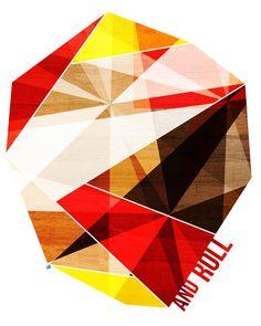 Rock and Roll, (Geometric Stone)  Art Print