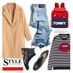 """""""STREET STYLE"""" by tiziana-melera ❤ liked on Polyvore featuring Markus Lupfer, R13 and Tommy Hilfiger"""