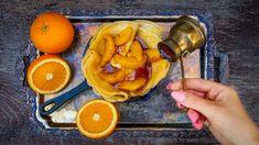 Pomerančový dezert: francouzské palačinky crepes Suzette Crepe Suzette, 20 Min, Grapefruit, Vegetables, Food, Essen, Vegetable Recipes, Meals, Yemek