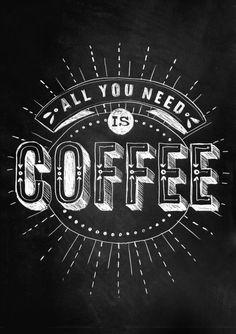 chalkboard design typography coffee