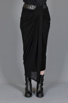 schema draping skirt - HELMUT LANG - Layers London