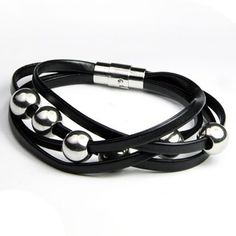 Delicate Faux Leather Layered Beads Bracelet For Men from 5.66$ by SAMMYDRESS