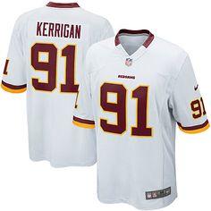 youth nike washington redskins 91 ryan kerrigan limited white nfl jersey sale